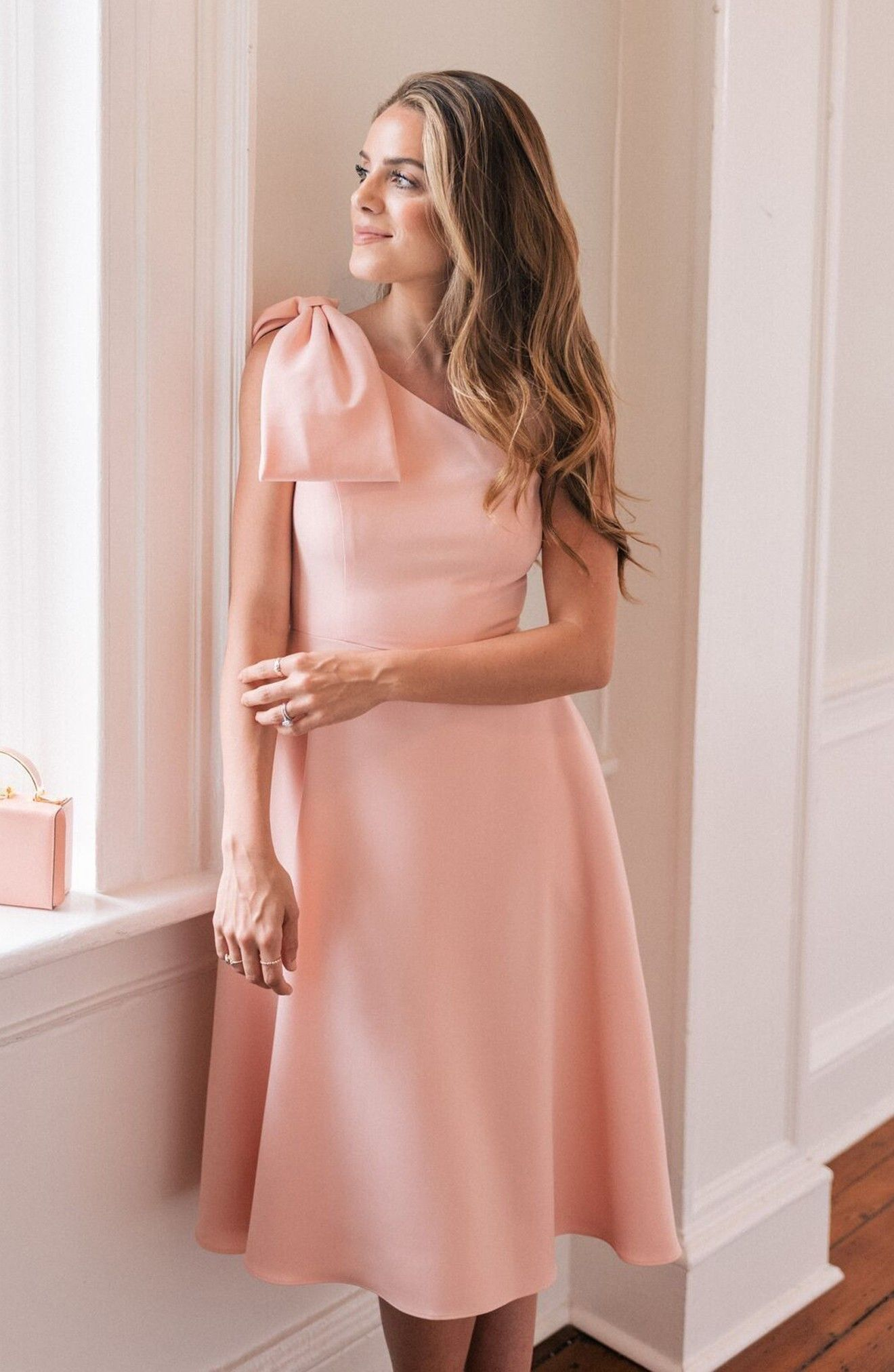Dream crepe oneshoulder dress style inspiration in