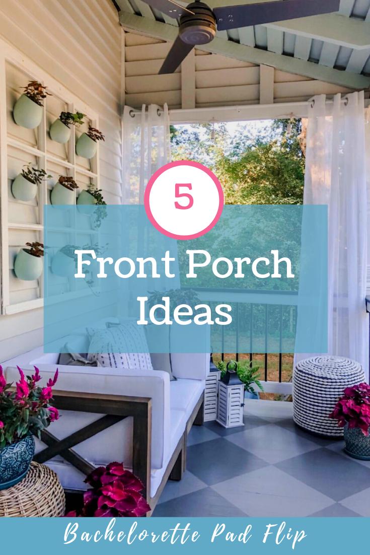 Inspiration & tips for any style & size porch. #porch #porchideas #porchdecor