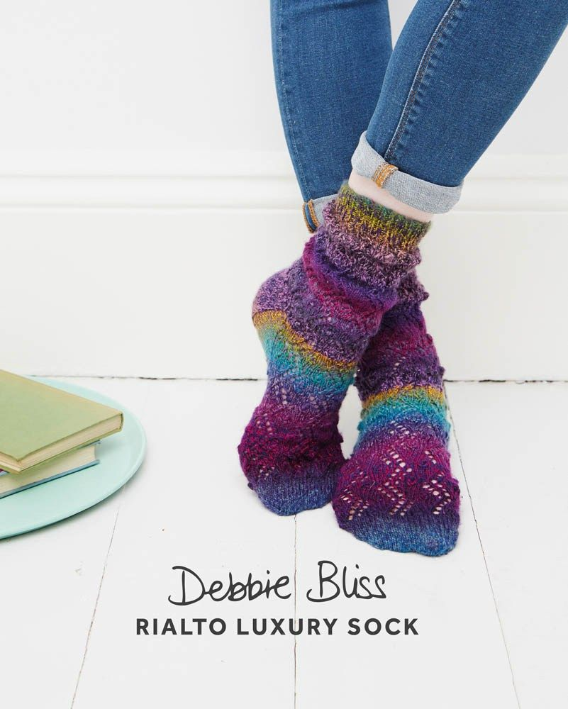 bobble lace socks db079 debbie bliss patterns designer yarns