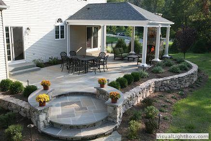 raised patio ideas raised patio ideas with sleepers google search covered stone patio google search - Raised Patio Ideas