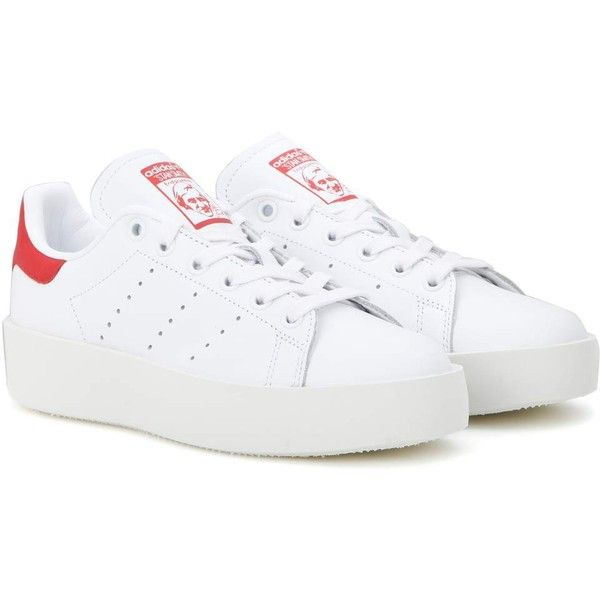 Adidas Originals Stan Smith Bold Leather Sneakers 135 Liked On Polyvore Featuring Shoes Sneake Stan Smith Adidas Originals Stan Smith Stan Smith Sneakers