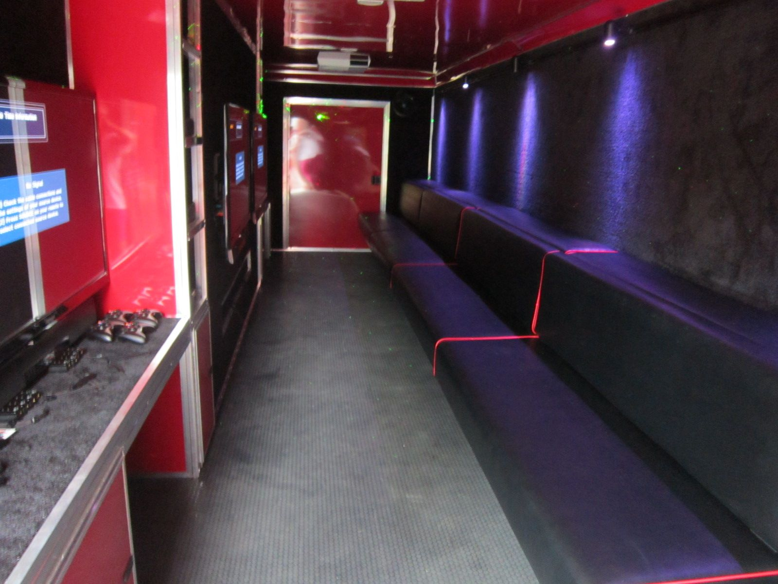 Inside of Mobile Video Game Theater from the front door Stadium