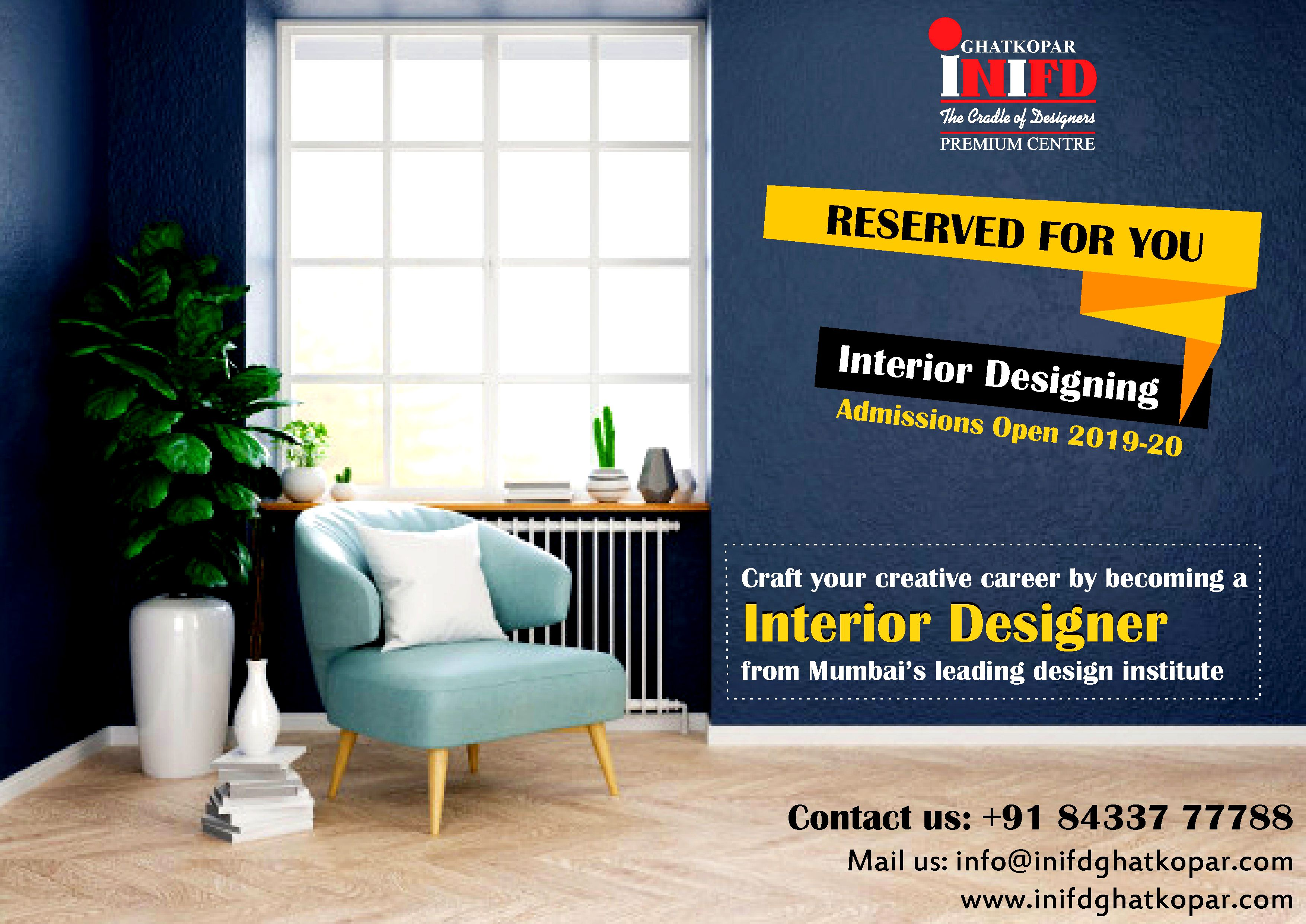 Craft Your Creative Career By Becoming An Interior Designer From Mumbai S Leading Design Institute Inifd Ghatk Creative Careers Interior Stylist Retail Design