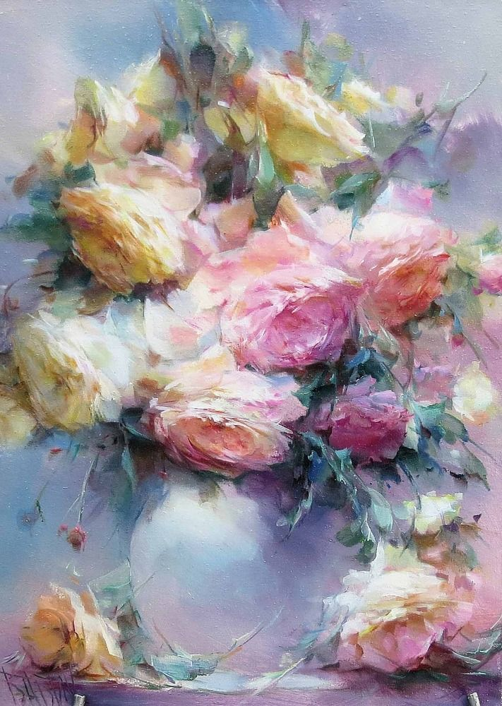 Цветок маслом картинка