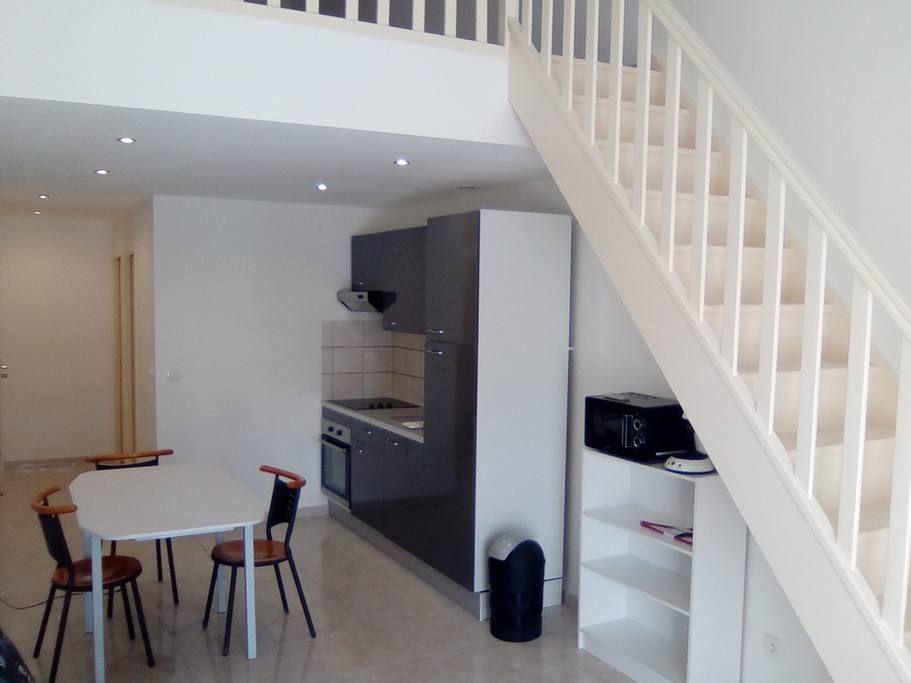 Studio 50m2 Avec Mezzanine Et Balcon Appt 1 Appartements