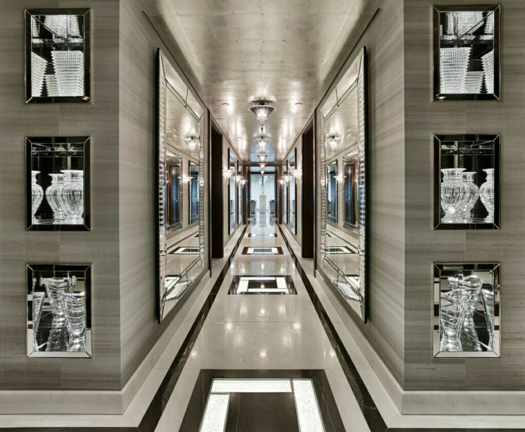 Pasillos pintados y decorados para interiores modernos - Cuadros para decorar pasillos ...