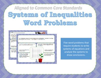 Systems Of Inequalities Word Problems It S About Time For Math