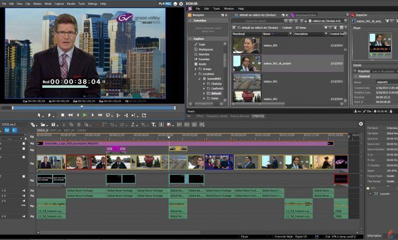 تحميل برنامج مونتاج الفيديو التلفزيوني ايديوس Grass Valley Edius Pro 8 5 و الاصدار Edius Pro 9 Video Editing Software Video Streaming Free Download Photoshop