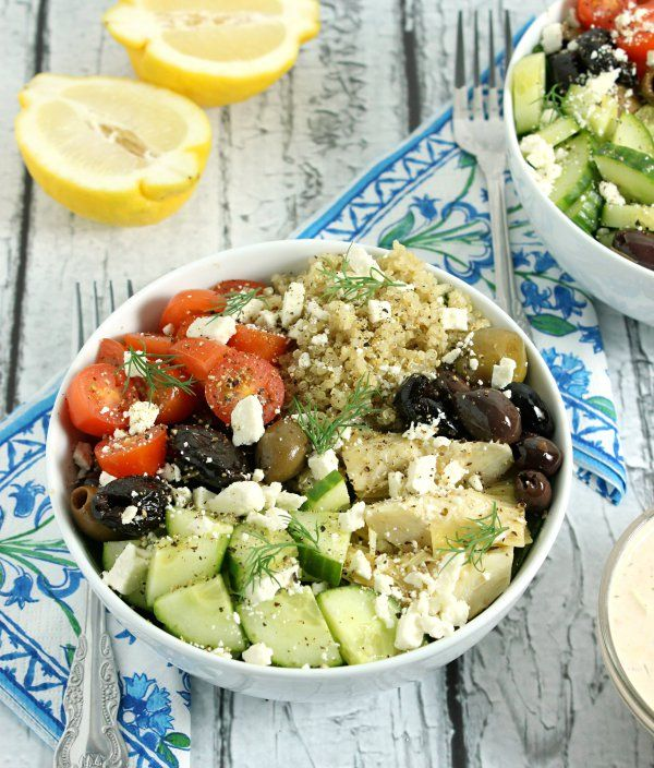 Loaded Greek Style Quinoa Bowls