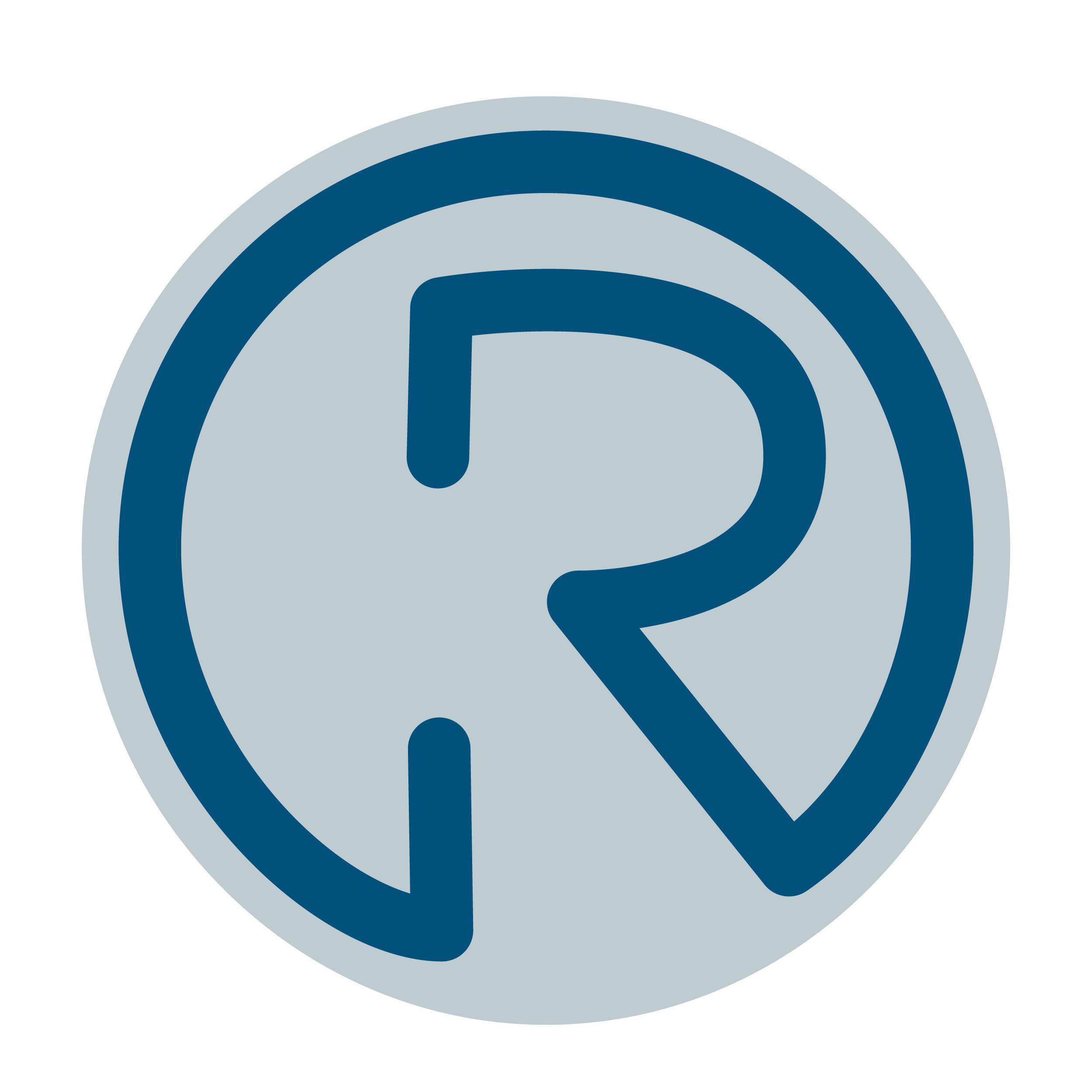 Circle Blue R Logo Circle Logo Design Logo Design Template Logo Sticker