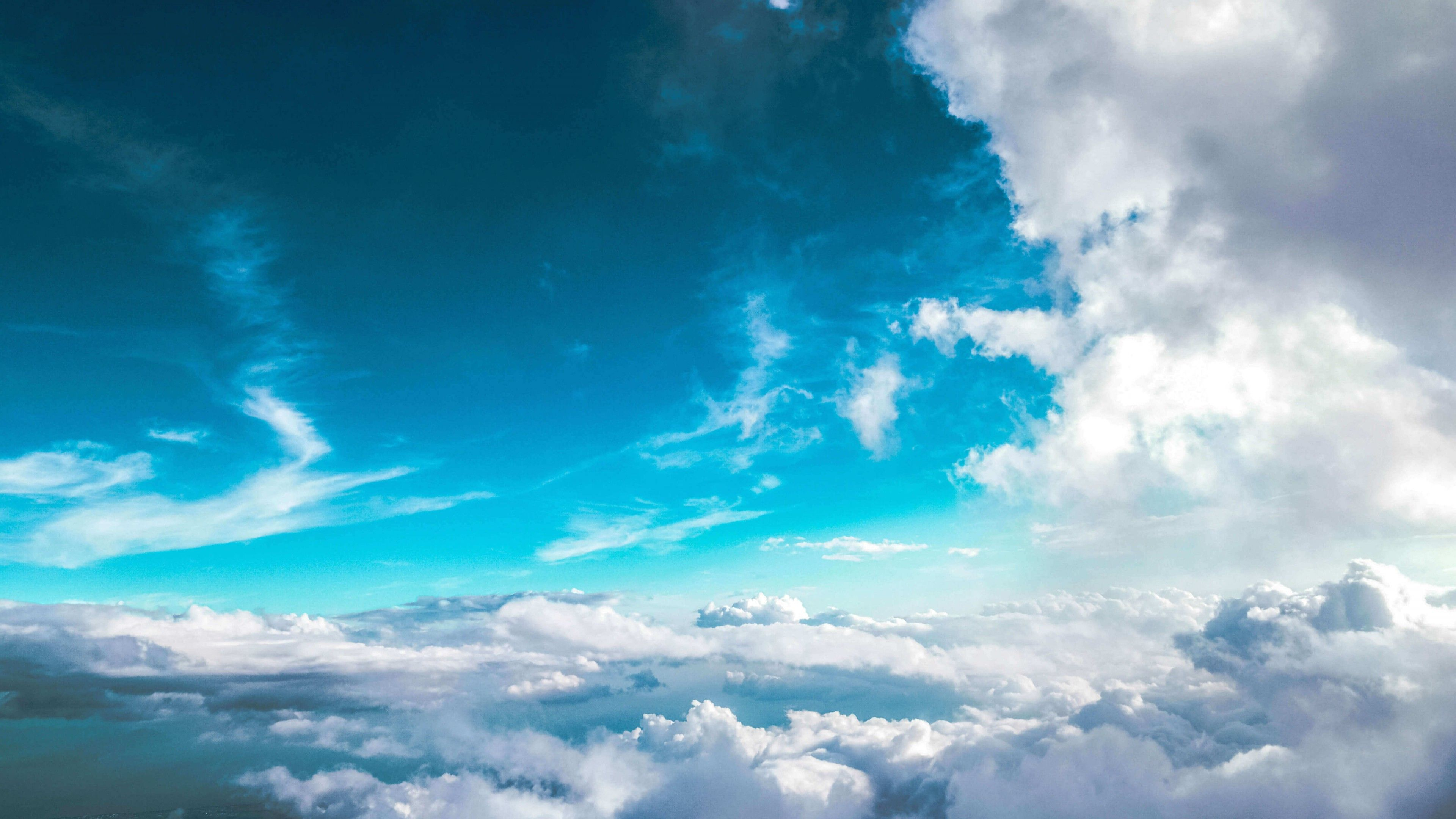 Blue Sky cloud wallpaper 3840x2160 4K ultra HD - http://www.hd1080pwallpaper