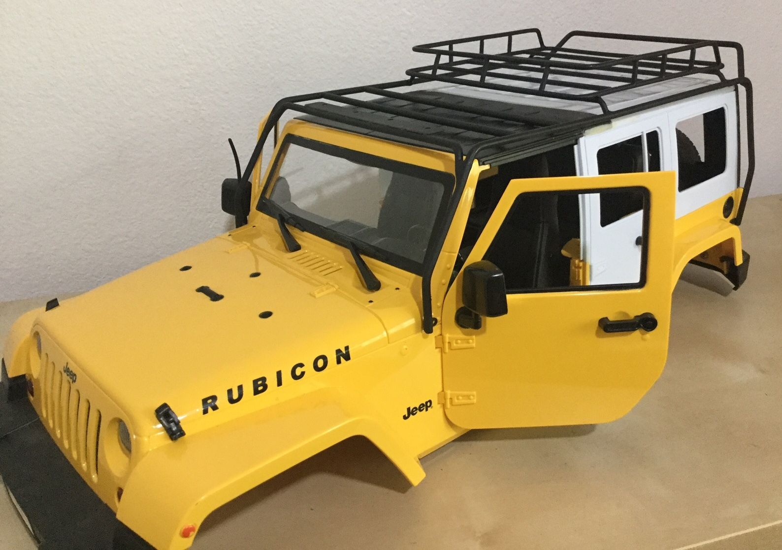 1 10 Scale Jeep Wrangler Rubicon 5 Doors 313 Mm Hand Made W Metal Roof Rack Roof Rack Jeep Wrangler Rubicon Jeep Wrangler