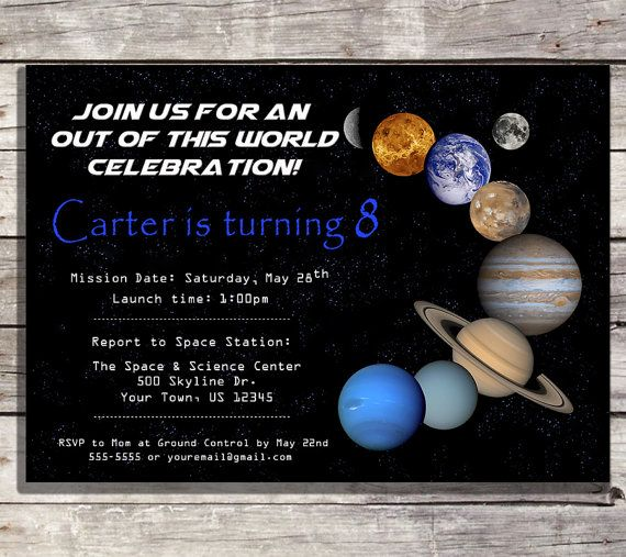 83ca0ed4ed7a5e31a14956d41cd0fe17 solar system invitations planet party invitations space,Space Birthday Party Invitations