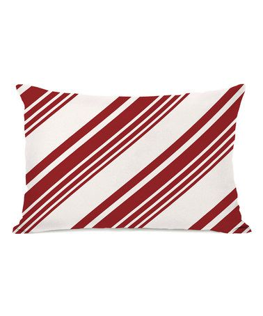Another Great Find On Zulily Candy Cane Pattern Throw Pillow