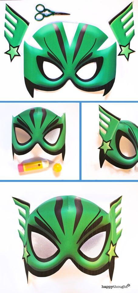 Superhero Mask Template Superhero Masks Printable Pdf Files Craft