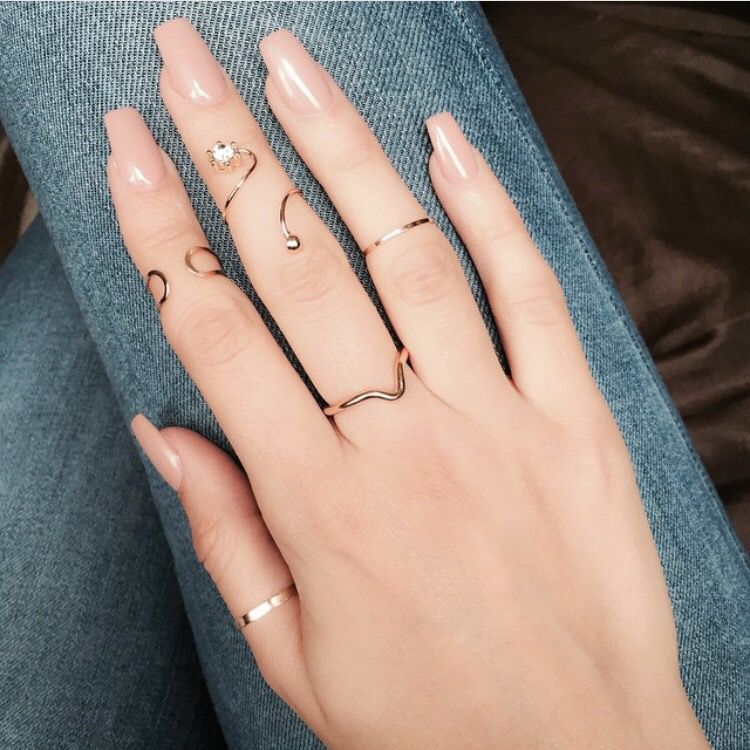 Nude nails | Cute Nails | Pinterest | Diseños de uñas, Manicuras y ...