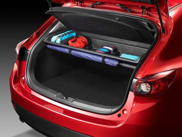 Cargo Area Storage Shelf 2014 2018 Mazda 3 Hatchback Only Mazda 3 Hatchback Hatchback Mazda Accessories