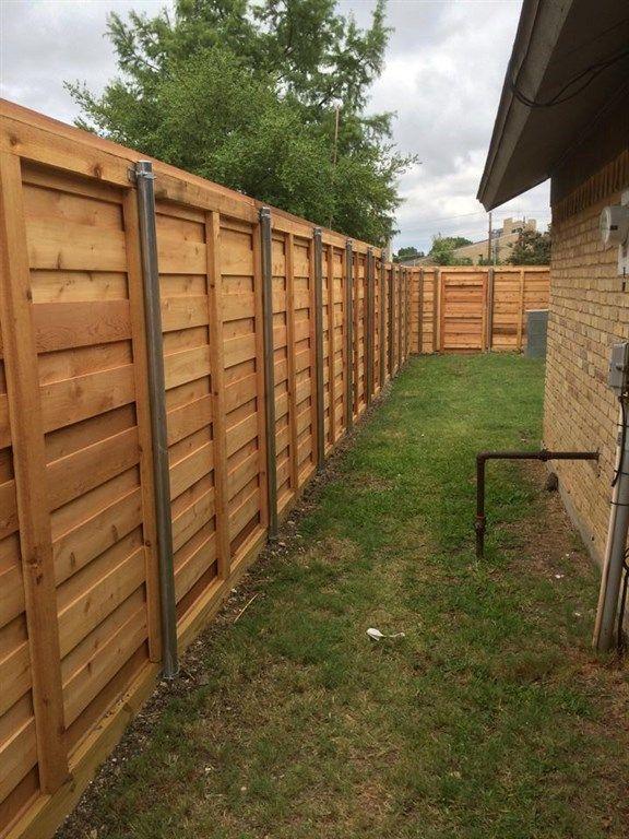 Horizontal Fence Inside Building A Fence Fence Design Backyard Fences