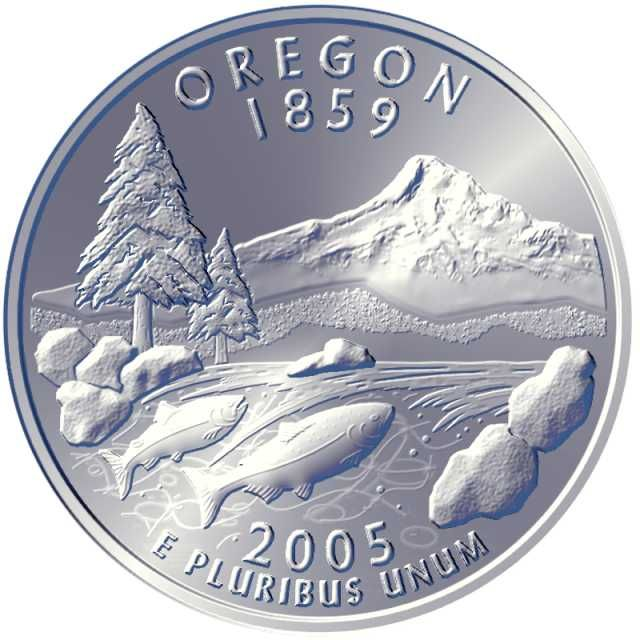 Oregon State Coins 2005 Oregon State Quarter 2003 Oregon Is Currently Reviewing Designs Coins Coin Design Coin Values