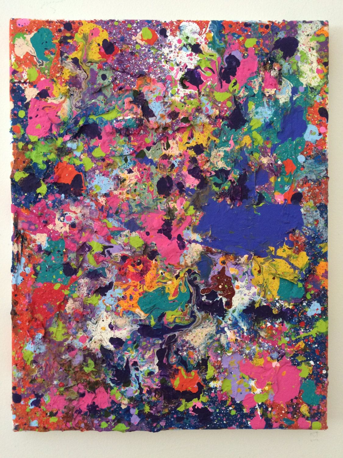Abstract Painting Modern Wall Art Splatter Painting Expressionist