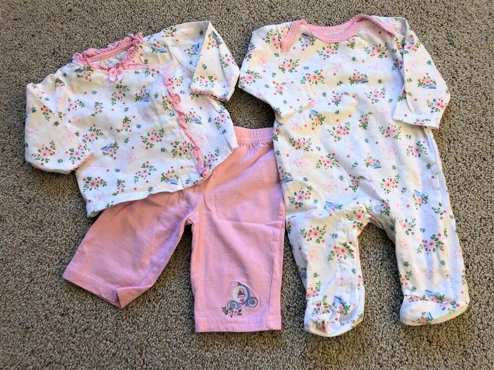 NWT DISNEY BABY MINNIE MOUSE 2-PIECE PANTS SET 0-3M