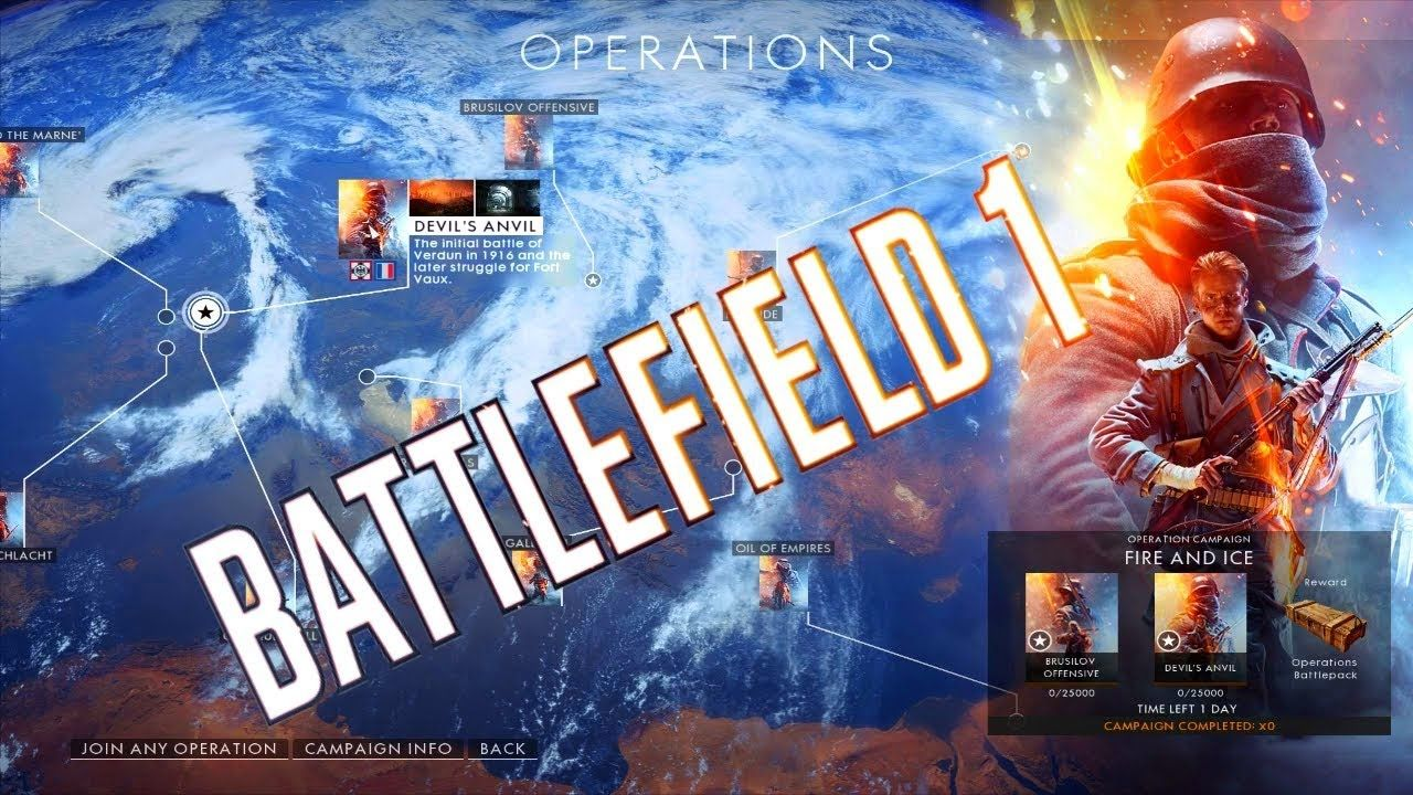 Battlefield 1 Operations First Time Out In Multiplayer Amiens
