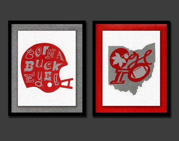 Ohio State Baby Ohio State Nursery Ohio State Decor