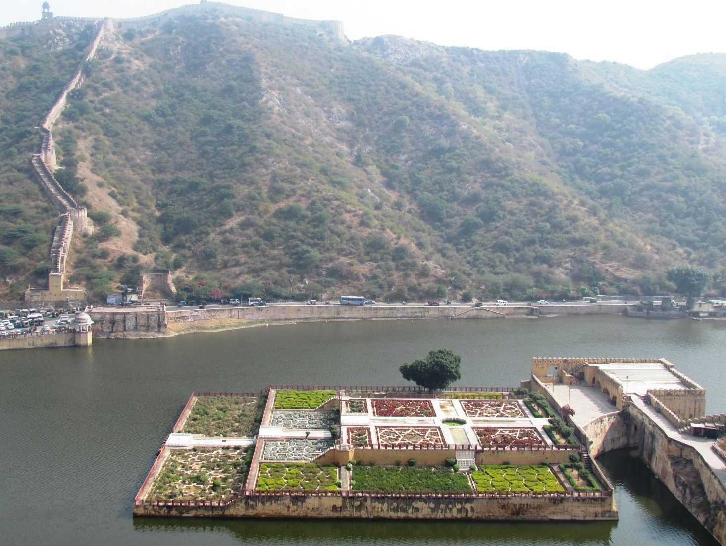 Lake & garden view from top of Amber Fort , Jaipur