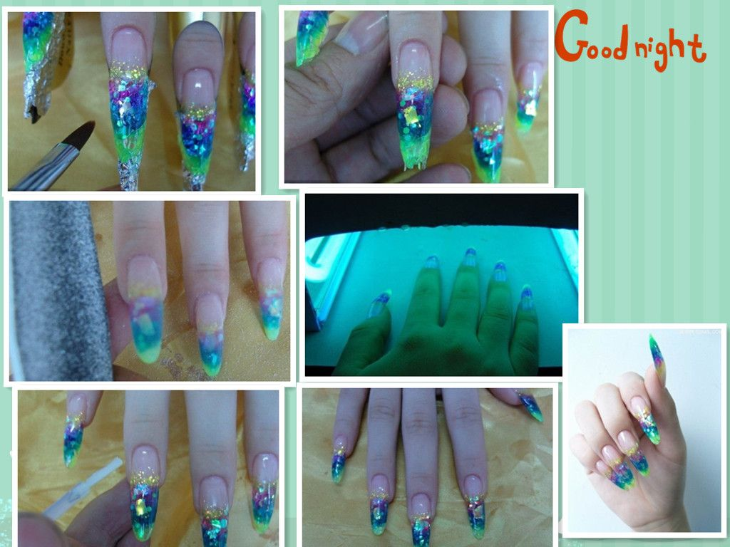 second step for crystal nail