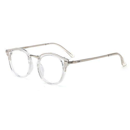 b4c02e3b4481 D.King Vintage Round Prescription Eyeglasses Horn Rim Clear Lens Eye  Glasses Frame