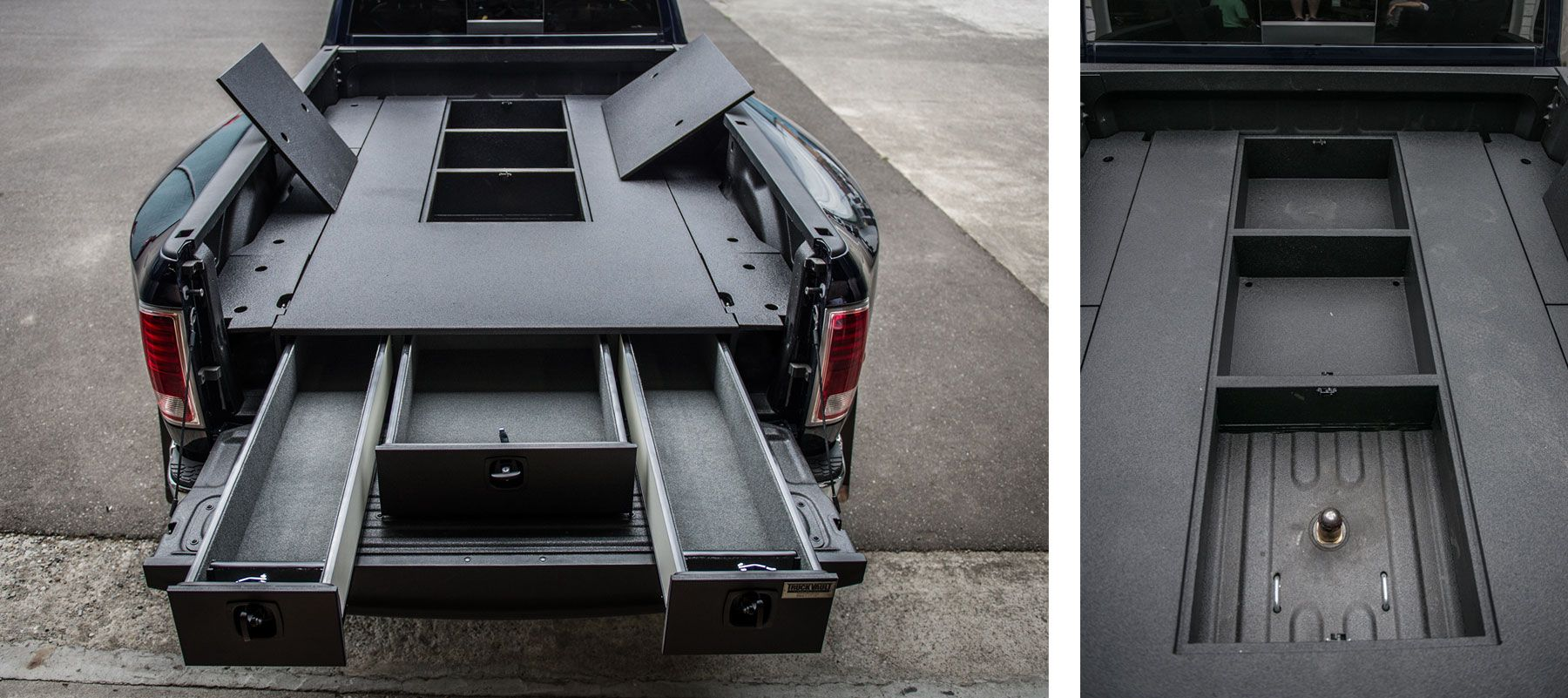 A great storage solution from TruckVault for 5th wheel