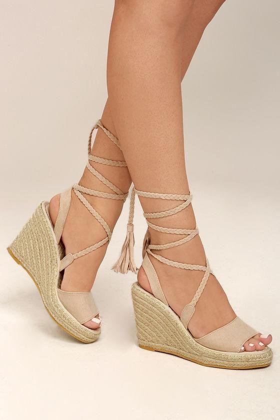 Lulus Cali Leather Espadrille Platform Sandal Heels - Lulus QFHhMcwYf