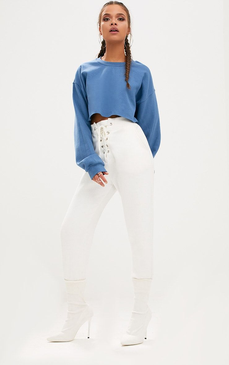 671eb3312 Indigo Ultimate Cropped Sweater | a baddies wardrobe | Cropped ...