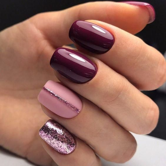 52 Unique And Beautiful Winter Nail Designs Nail Design Nail Design Simple Nails Purple Nails Nails