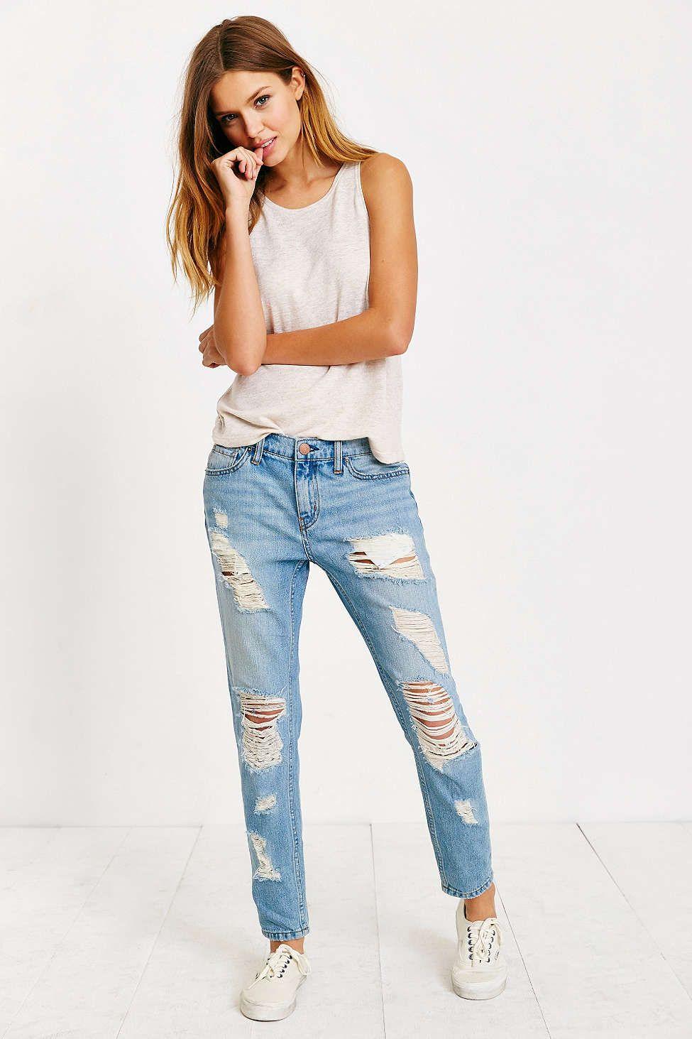 BDG Slim Boyfriend Jean - Light Denim Slash | Boyfriend jeans ...