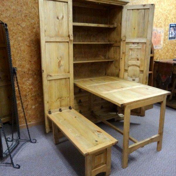Space Saving Armoire The Table And Benches Fold Up And