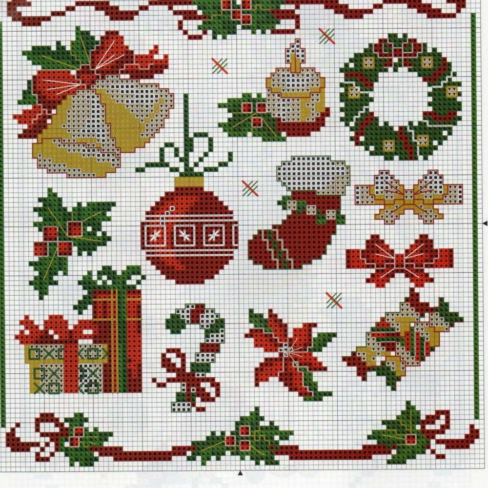 Cross Stitch, Stitch And Natal