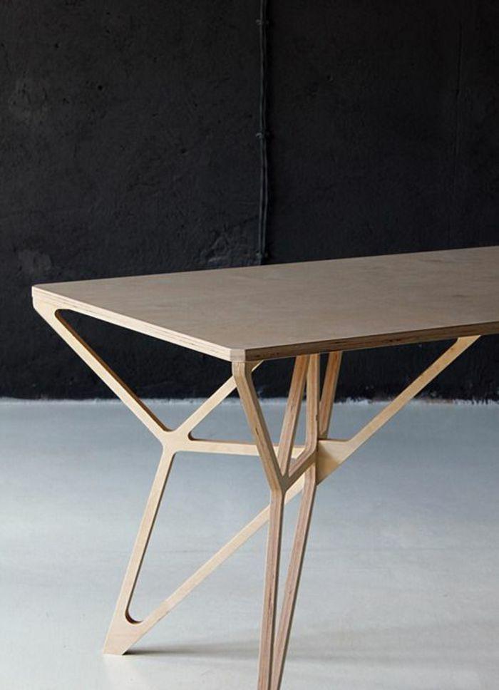 Neuartiger Designer Esstisch Aus Holz | Ideen Rund Ums Haus ... Modernes Gartenhaus Aus Pappelholz