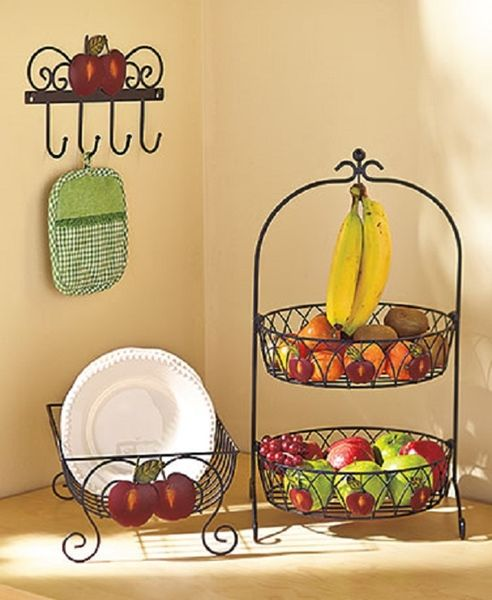 Apple Kitchen Decor Cheap: Country Kitchen Decor Collection Iron Apple Farmhouse