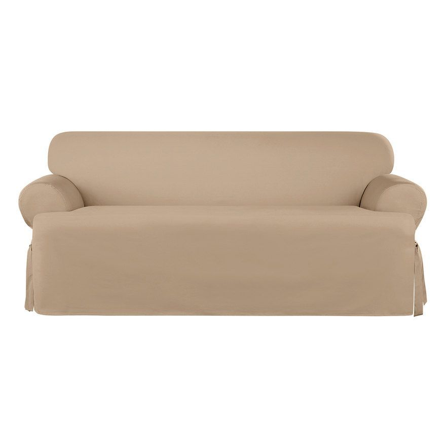 Sure Fit Sailcloth T Cushion Sofa Slipcover Cushions On Sofa Slipcovers Sailing Outfit