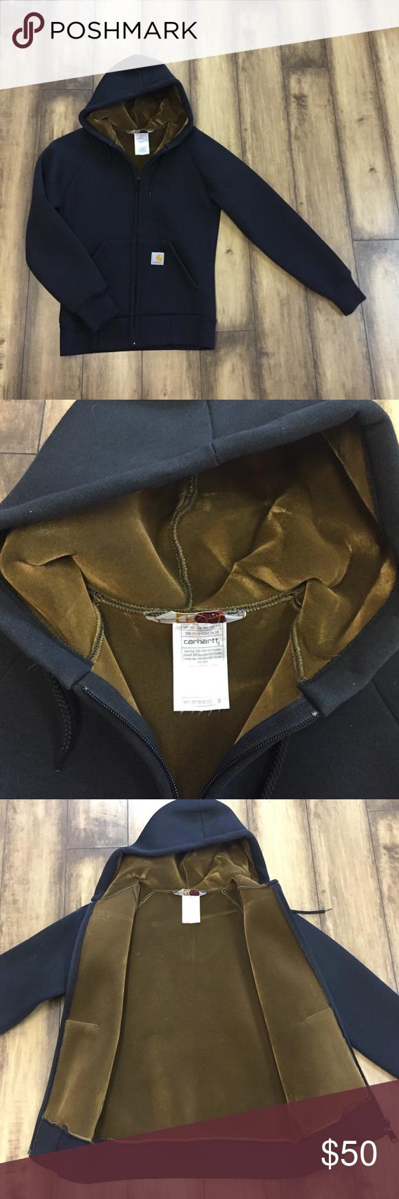 Carhartt full zip hoodie lined with velour d tops and zip hoodie