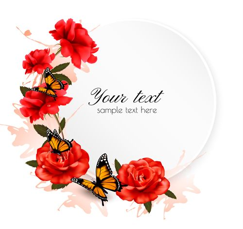 Red Flower Vector Png