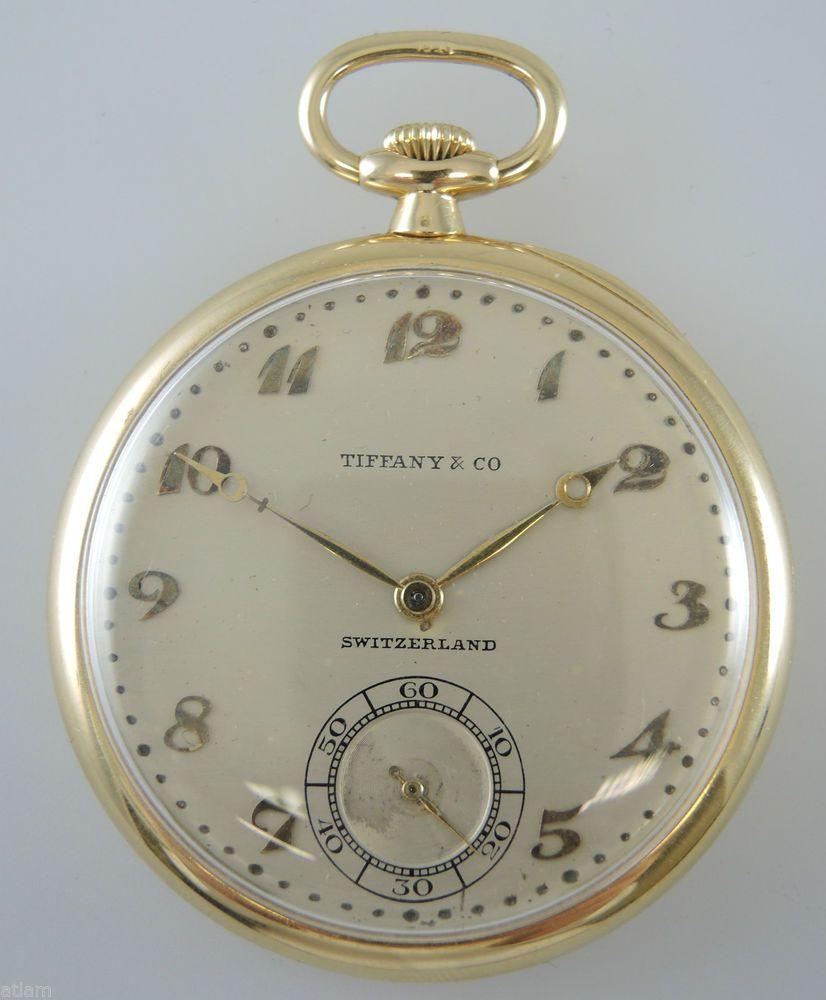 66e6e6182 Genuine 18K Gold PATEK PHILIPPE Pocket Watch made for TIFFANY c1928  #PatekPhilippe