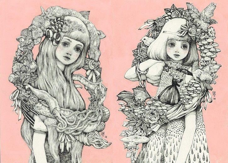 50 Awesome Artworks by Yuko Higuchi | tsunagu Japan