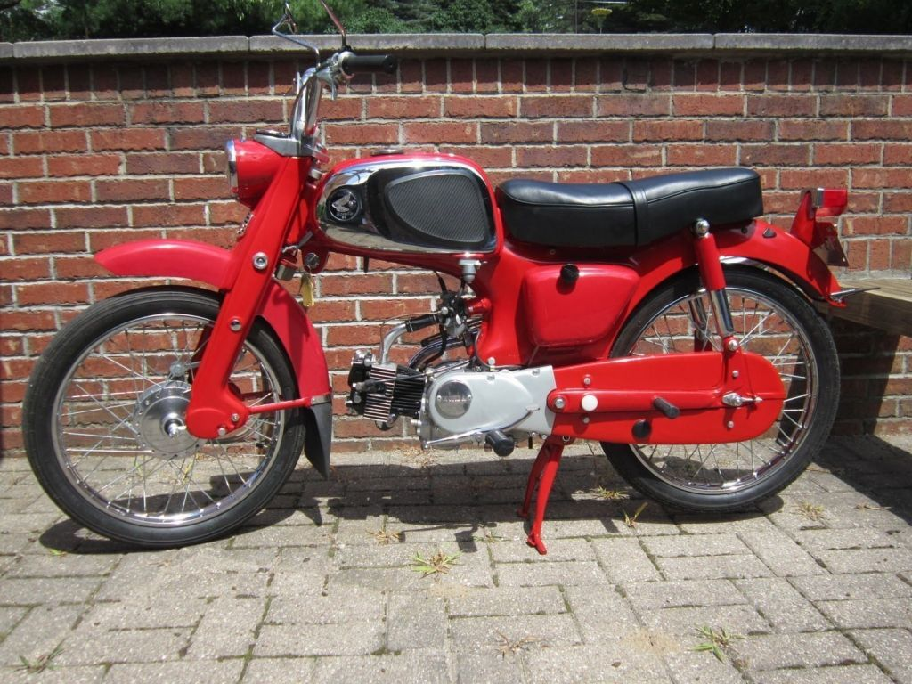 1963 red honda ca110 sport 50 4 speed vintage motorcycles pinterest honda 50cc moped and. Black Bedroom Furniture Sets. Home Design Ideas