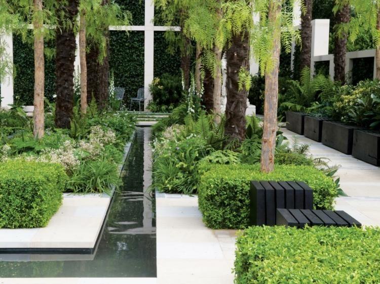 Minimalistischer Bachlauf Für Den Exotischen Garten | Home ... Gartenanlage Modern Bilder
