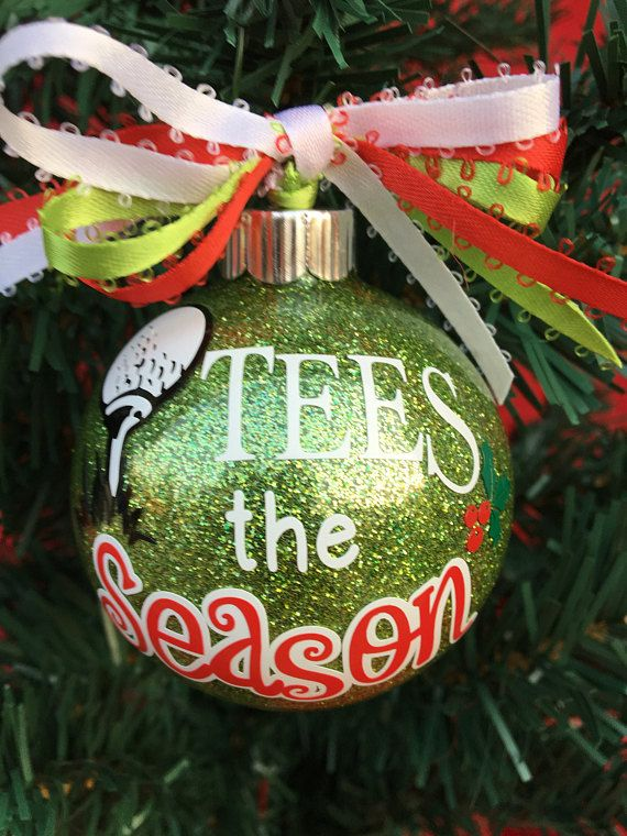 I make Christmas ornaments myself, with the thought of adding a small piece  to your holiday enjoyment! These are super fun to make, and something I ... - Golf Ornament, Husband Golf Gift, Gift For Grandpa, Golf Gifts