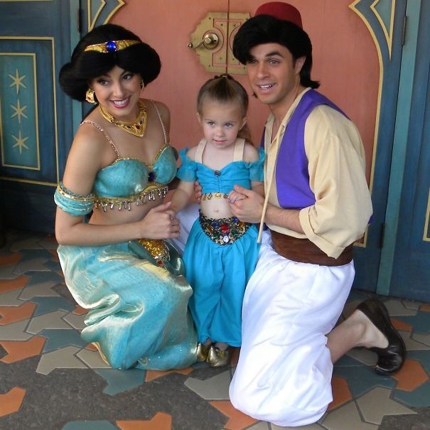 This Little Girl Gets To Go To Disney World Weekly In Adorable - Mother makes daughters dreams come true incredible disney costumes