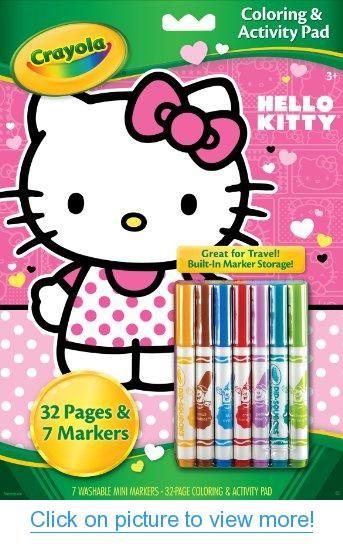 Crayola Hello Kitty Coloring And Activity Pad With Markers Kitty Coloring Hello Kitty Coloring Hello Kitty