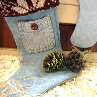 Denim Christmas Stocking